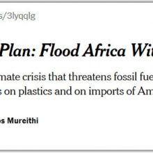 Big Oil – flooding Africa with plastics