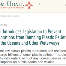 Udall Introduces Legislation to Prevent Corporations from Dumping Plastic Pellets Into the Oceans and Other Waterways