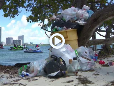 Holiday weekend highlights trash trouble on Miami islands