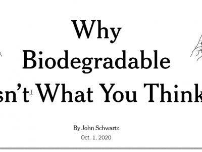 Why 'biodegradable' isn't what you think – NYT