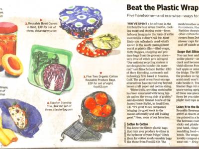 Skip the Plastic Wrap. 5 Chic, Reusable Food-Storage Alternatives